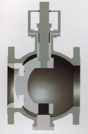 气动偏心陶瓷球阀结构图