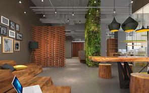 上海新式办公室背景墙装饰设计的技巧