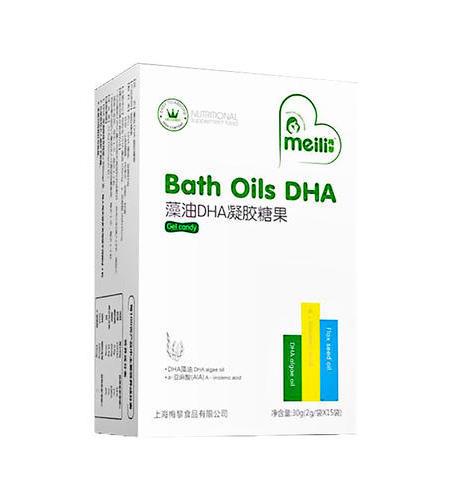 藻油DHA   凝膠糖果    凈含量:22.8g(760mg/粒×30粒)