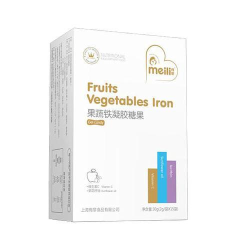 果蔬铁    凝胶糖果    净含量:22.8g(760mg/粒×30粒)
