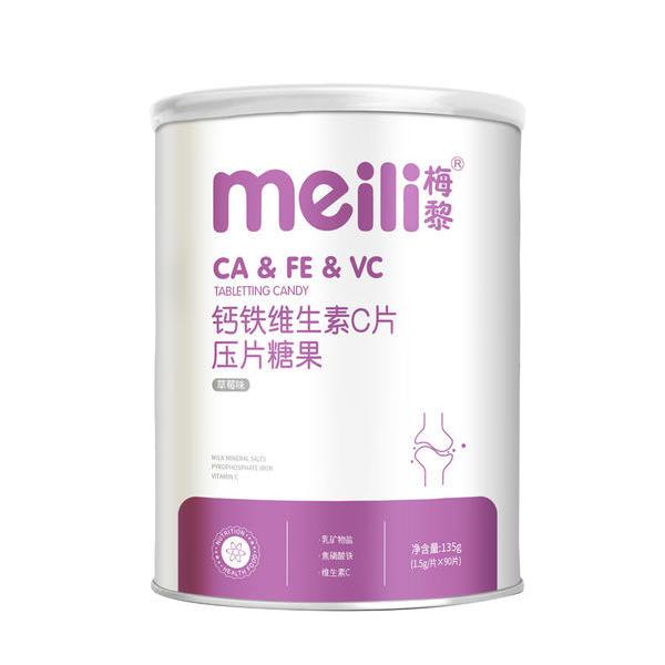 钙铁维生素C片      NET 135g (1.5g/片×90片)