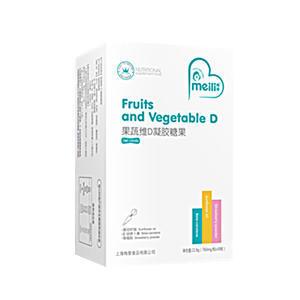 果蔬维D   凝胶糖果    净含量:22.8g(760mg/粒×30袋)