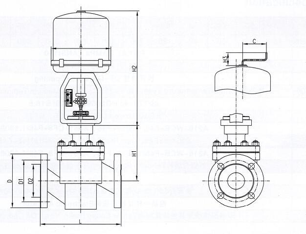 电动衬氟调节阀构造图