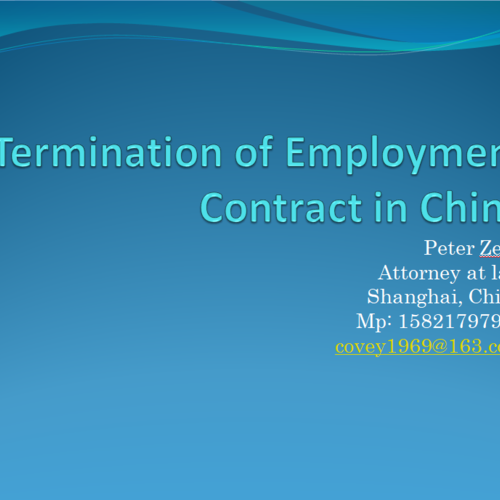 Termination of Employment Contract