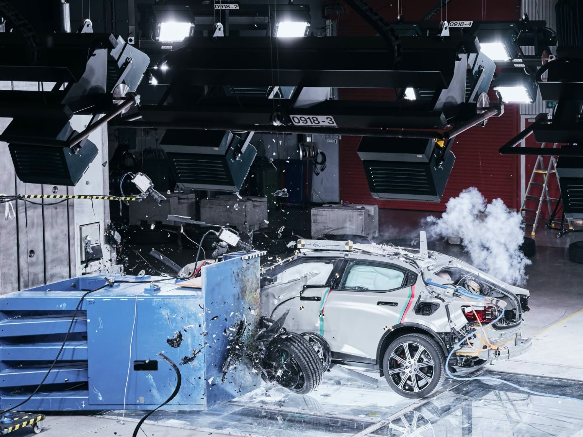 2021 Polestar 2 Crash Test SPOC Block