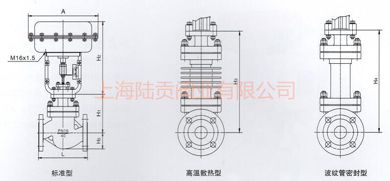 气动套筒调节阀结构图