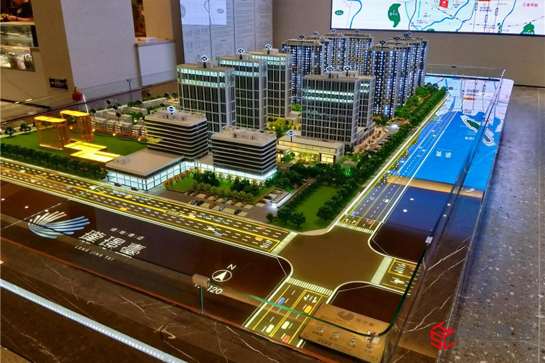 房地產建筑 綠地煙臺瓏景臺沙盤模型