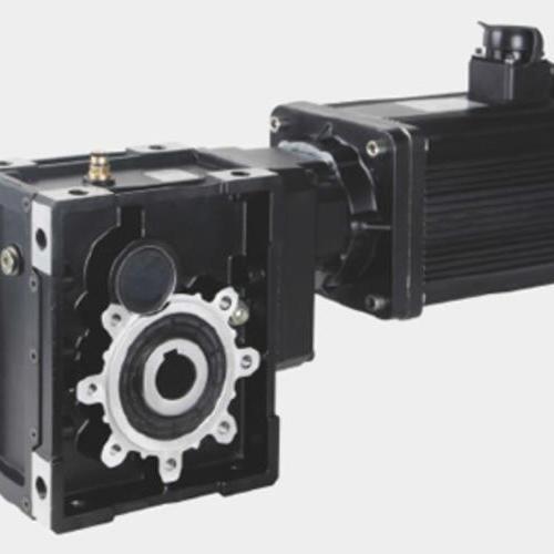 SKM斜齿-准双曲面齿轮减速机+伺服电机