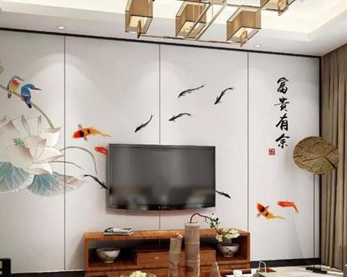 定制刺绣皮绣电视背景画竹木纤维墙板工装硬包家装挂画墙板背景