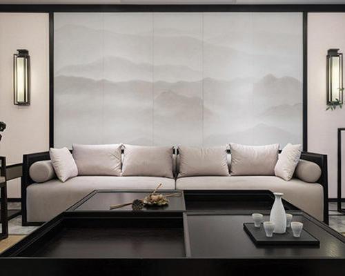 定制3D工装家装实木花格竹木集成墙布硬包背景浮雕电视客厅墙纸
