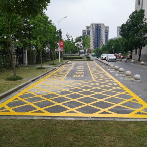 上海周浦医院消防通道划线 消防车停车位划线 消防车道如何划线