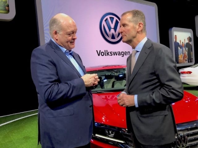"THE VW CHIEF FACES THE PROBLEMS HEAD ON. VW's chief, Herbert Diess (right) got Ford on the ""MEB journey"" towards electrified vehicles. The American car manufacturer will produce electric cars using the German car manufacturer's platform. Cooperation between car giants Volkswagen and Ford includes common platforms and also common technology for self-driving cars. Although the coronavirus pandemic has slowed down several major car projects around the world, Volkswagen and Ford have announced that the first steps in their joint project are already being taken this summer. There is also more to this collaboration: Volkswagen and Ford started the talks with a collaboration on the development of transport cars and pickups, but this has been extended to the MEB platform for electric cars. Ford plans to sell about 600,000 new electric cars in six years if they have access to VW's technology. The picture shows Volkswagen chief Herbert Diess and Ford's CEO Jim Hacket."