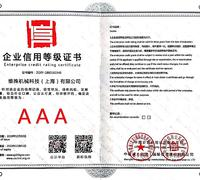 AAA Enterprise credit rating certificate