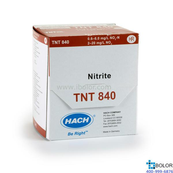 TNT840亞硝酸鹽試劑0.6-6.00mg/L 25次 HACH/哈希