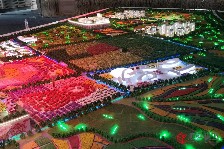 城市規劃|山東中國驛中華飲食小鎮沙盤