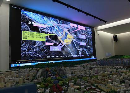 兰州榆中县城市规划沙盘模型