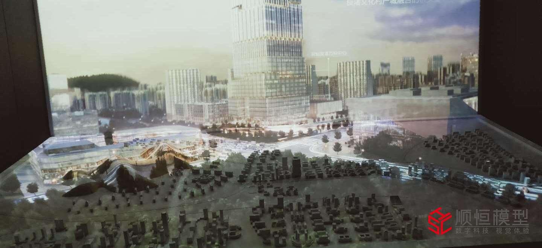 折幕投影 杭州投影沙盤模型