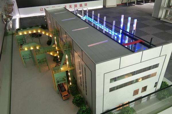 北京建工建筑垃圾再利用流程演示沙盘