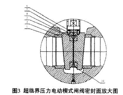 电动楔式闸阀密封面放大图