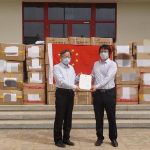 中国化学向毛里塔尼亚捐赠防疫物资