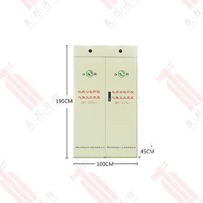 江荆120L双柜式七氟丙烷灭火器GQQ120*2/2.5-JJ