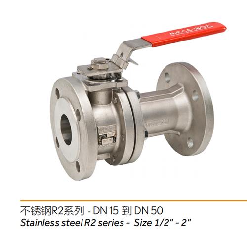 不锈钢R2系列----两片式球阀/2-piece ball valve