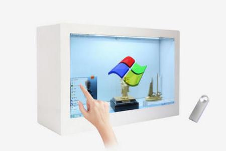 触摸液晶透明展示柜的特点