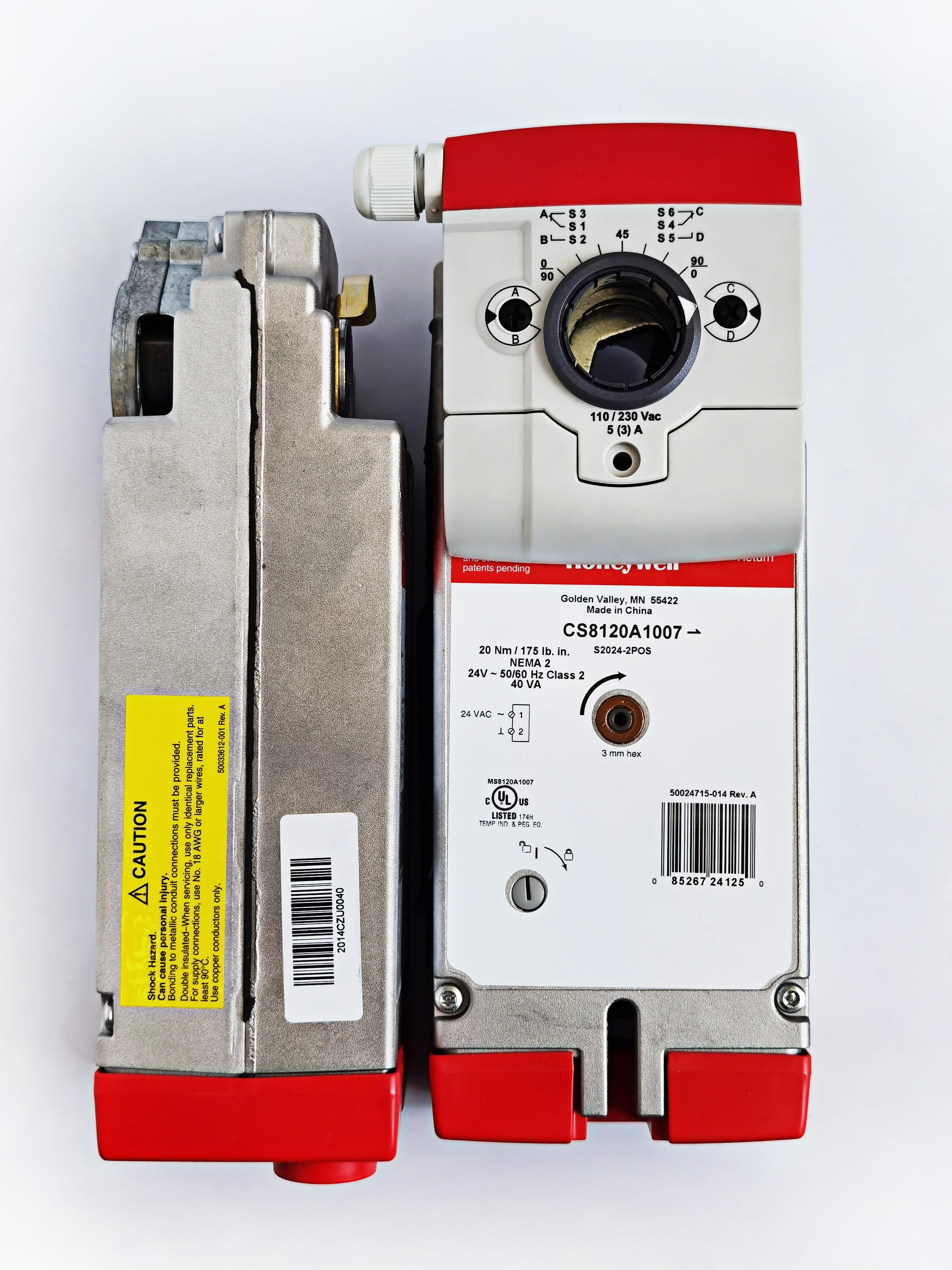 霍尼韦尔开关型弹簧复位风门执行器 CS8120A1007实物图