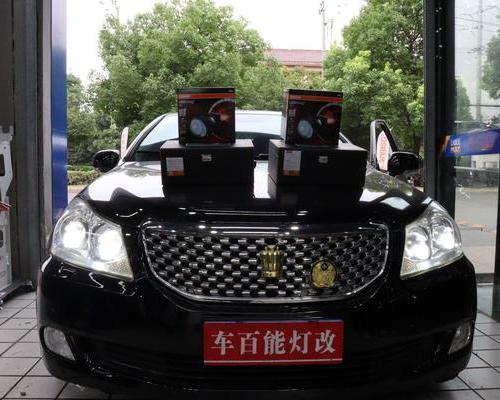 丰田皇冠 升级4透镜 欧司朗 CBI LED 双光透镜两个 改装案例