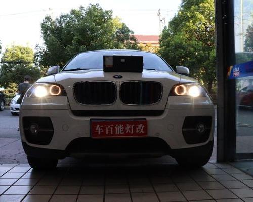 宝马X6 升级 欧司朗 CBI LED 双光透镜 改装案例