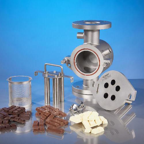 加热的Goudsmit电磁过滤器去除了液态巧克力中的铁颗粒