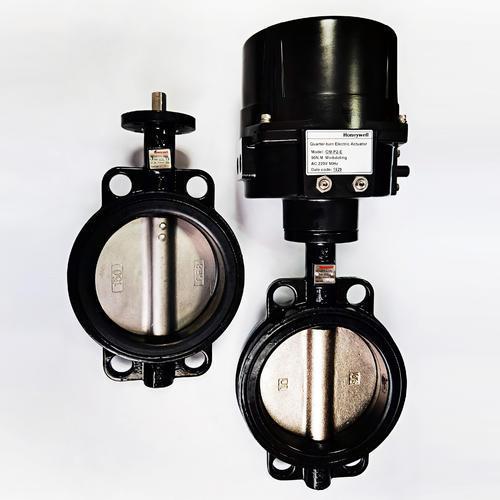 对夹蝶阀V4BFW16-080-125U-2-050U-050-012-112-016-500-400 配开关调节型控制执行器
