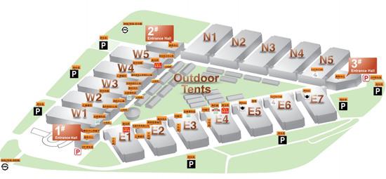 上海新国际博览中心停车场分布图