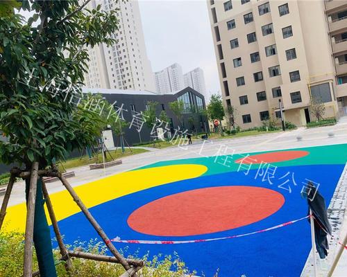 桃浦老年活动中心塑胶地坪工程现场