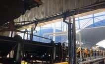 某电厂煤粉输送带温度监测现场