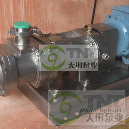不锈钢食品级双螺旋平行位移泵 大颗粒浓酱输送泵豆瓣酱输送泵