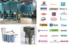 The pictures we show are of two of our business divisions: dust removal equipment and our spare parts