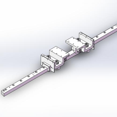 F72型方型导轨,地轨专用重载滚轮导轨