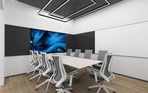科幻感十足办公楼会议室设计,令人眼前一亮!