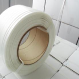 柔性打包带白色聚酯纤维打包带 货柜包装打包带