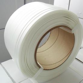 全规格优质白色柔性纤维打包带聚酯包芯高强度环保捆扎运输打包带