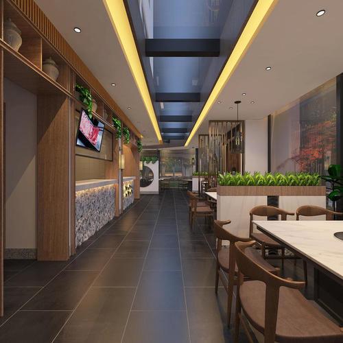 咖啡店奶茶店甜品店餐厅饭店装修效果图商场专柜图纸设计