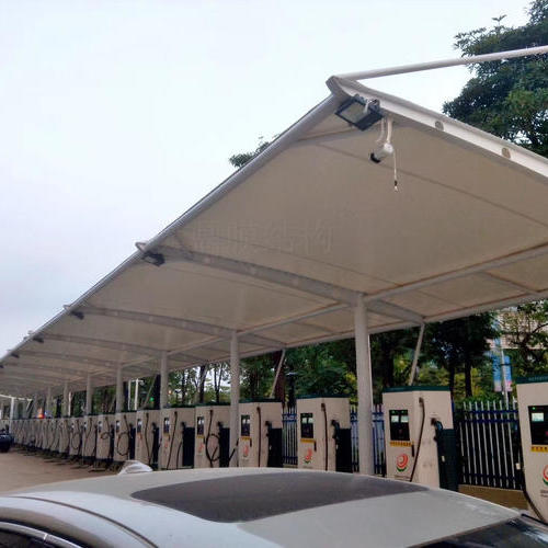 充电桩汽车雨棚膜结构