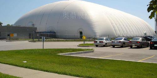 沙钢料场大型充气膜结构