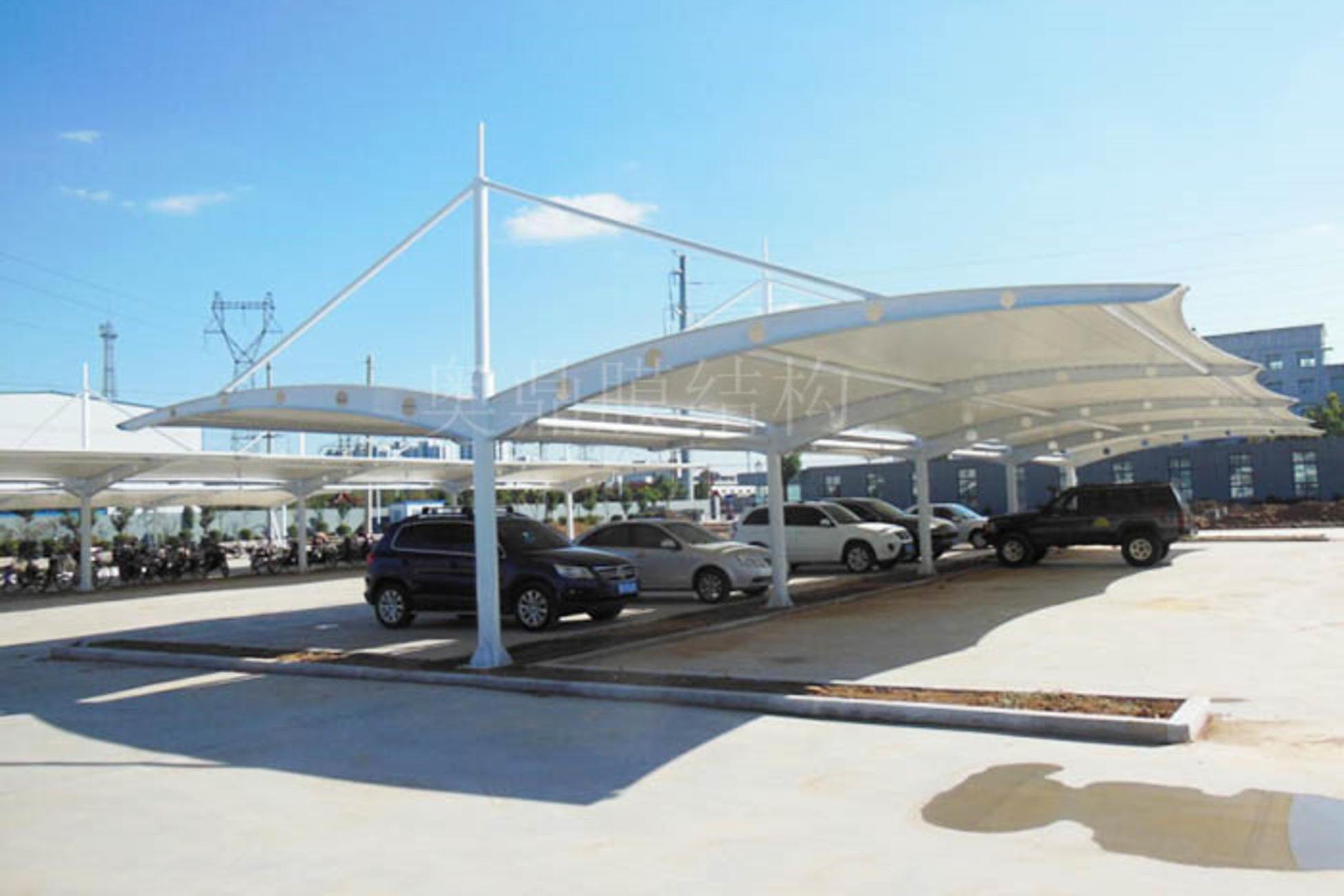 七字型膜结构停车棚