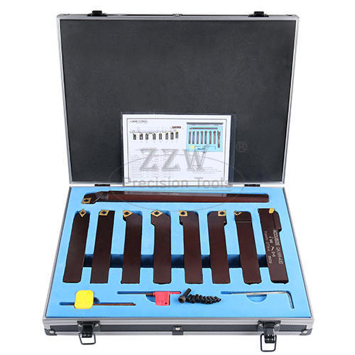 9PC Indexable Carbide Turning Tool Set,Metric type