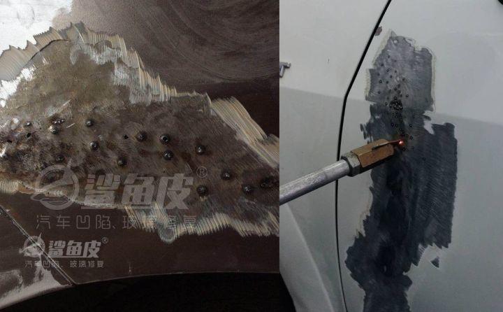 汽车引擎盖有个拳头大的坑,4s店能做凹陷修复吗?