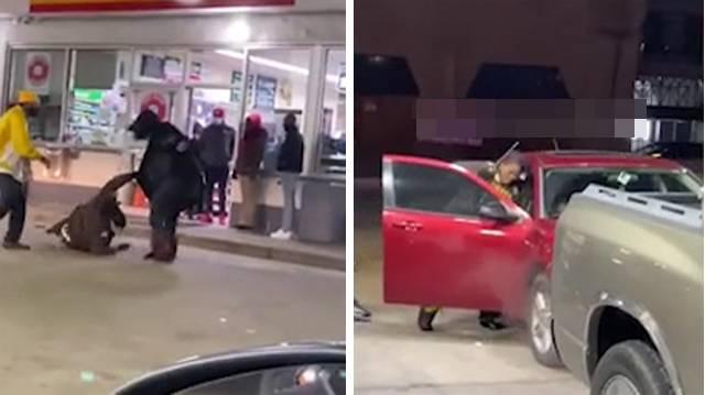因未带口罩进店被阻止 美国一名女子殴打加油站保安