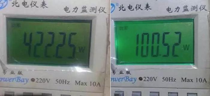 量驱动变压器功率改造前后对比