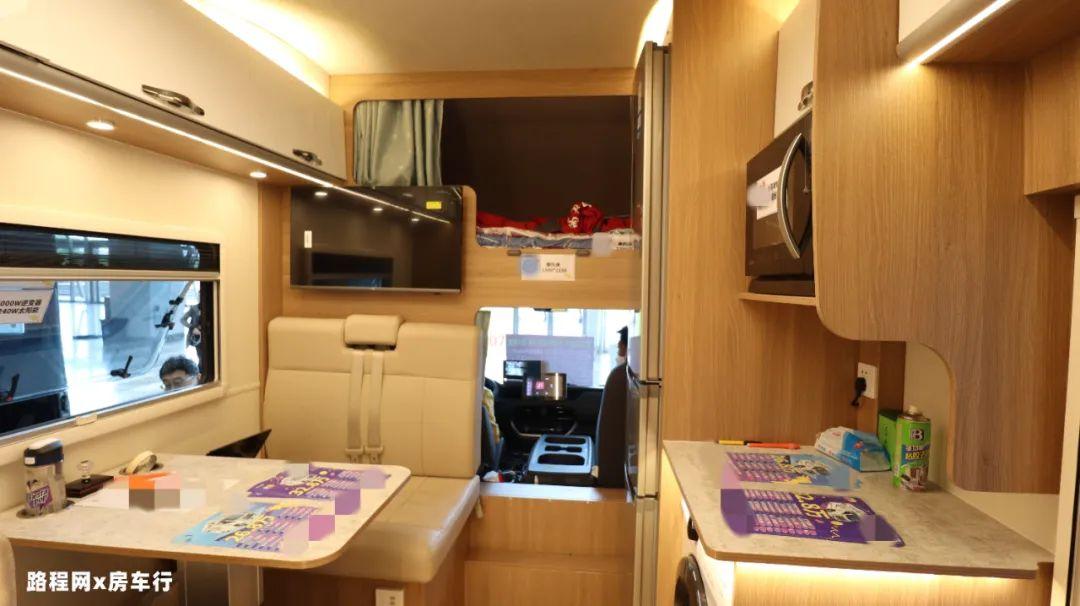 5.27上海房车展:大水大电还有超大冰箱,窝友自驾新款C型房车配置超丰富,等你来看!